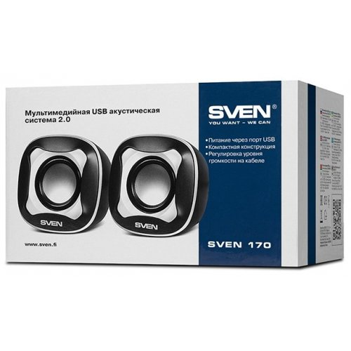Фото Акустическая система SVEN 170 Black-White