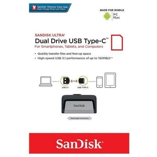 Фото Накопитель SanDisk Ultra Dual Type-C 16GB USB 3.0 (SDDDC2-016G-G46)