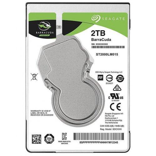 Фото Жесткий диск Seagate BarraCuda 2TB 128MB 5400RPM 2.5'' (ST2000LM015)