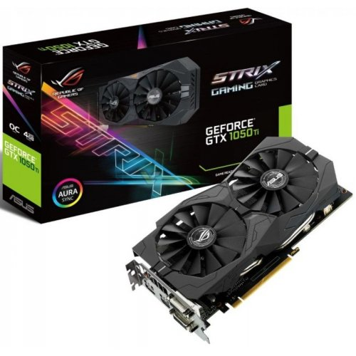 Фото Видеокарта Asus ROG GeForce GTX 1050 Ti STRIX 4096MB (STRIX-GTX1050Ti-4G-GAMING)