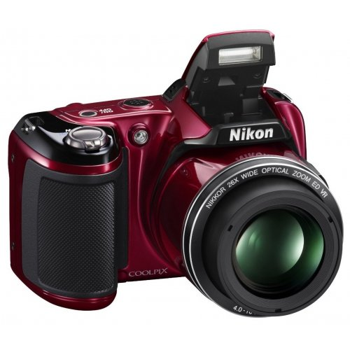 Фото Цифровые фотоаппараты Nikon Coolpix L810 Red