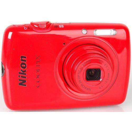 Фото Цифровые фотоаппараты Nikon Coolpix S01 Red