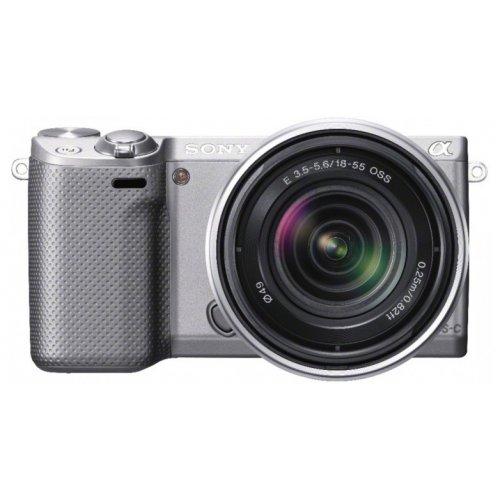 Фото Цифровые фотоаппараты Sony NEX-5RK 18-55 Kit Silver