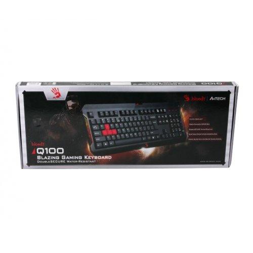 Фото Клавиатура A4Tech Bloody Q100 Blazing Black