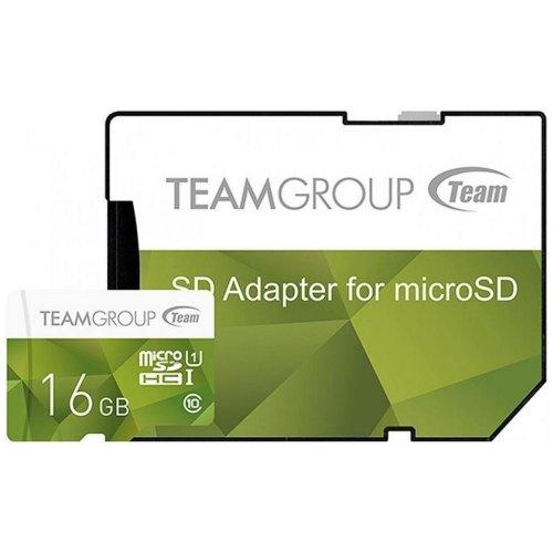 Фото Карта памяти Team microSDHC 16GB microSD Class 10 UHS-I (с адаптером) (TCUSDH16GUHS43)