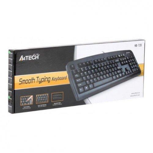 Фото Клавиатура A4Tech KB-720 USB Black