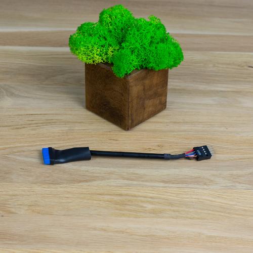 Фото Кабель-адаптер T-Cable USB3.0 to USB2.0 M/F 0,15m Black