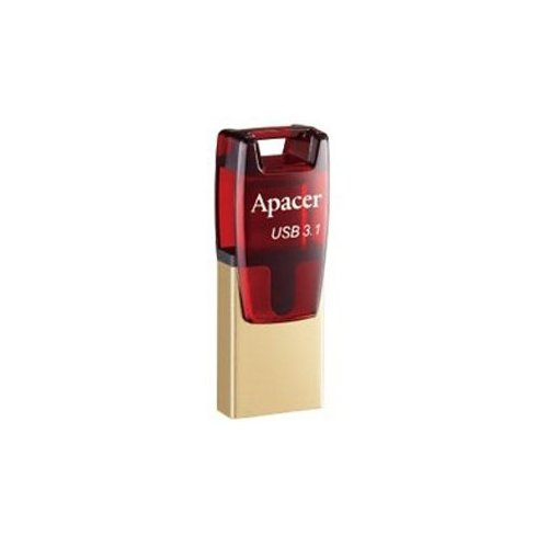 Фото Накопитель Apacer AH180 32GB Type-C Dual USB 3.1 Red (AP32GAH180R-1)
