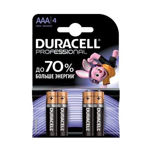Фото Батарейки Duracell Professional AAA (LR03) 4шт. (81578681)