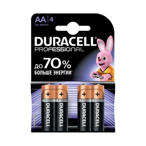 Фото Батарейки Duracell Professional AA (LR06) 4 шт. (81578680)
