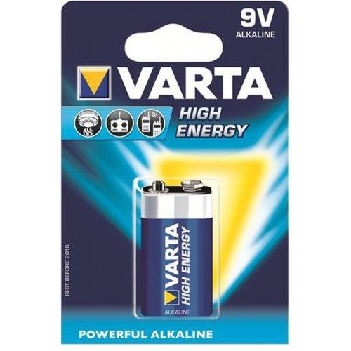 Фото Батарейки Varta Krona 6LR61 High Energy 1шт (04922121411)