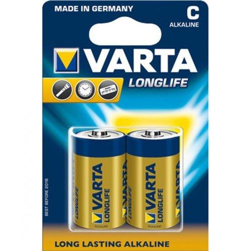 Фото Батарейки Varta C (LR14) Longlife 2шт (04114101412)