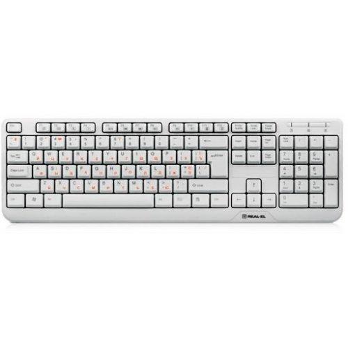 Фото Клавиатура REAL-EL Standard 500 USB White