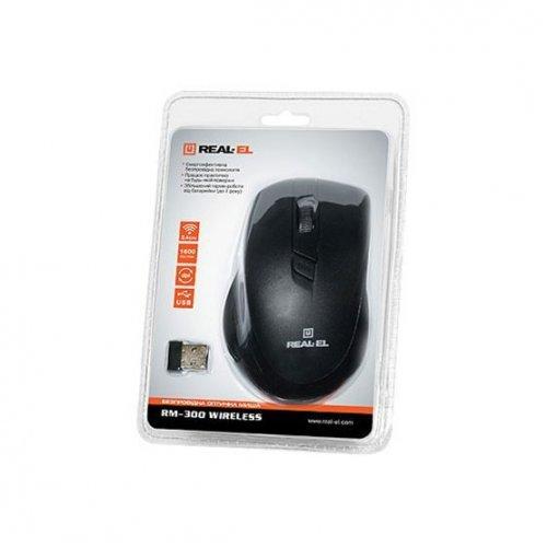 Фото Мышка REAL-EL RM-300 USB Black