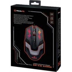 Фото Мышка REAL-EL RM-510 Gaming USB Black