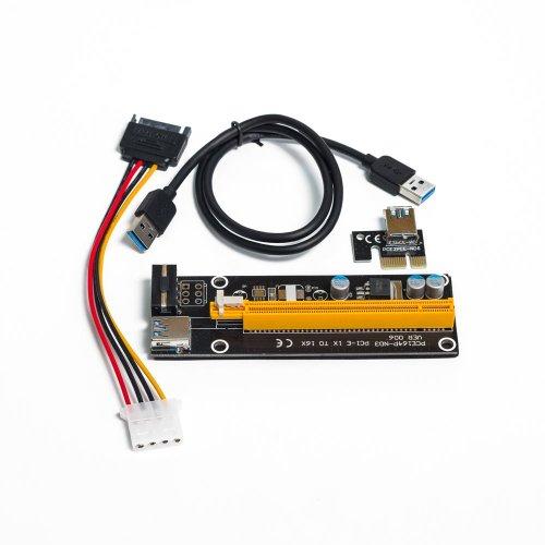 Фото Райзер T-Riser PCI-E 1x to 16x 60cm v.06 Black