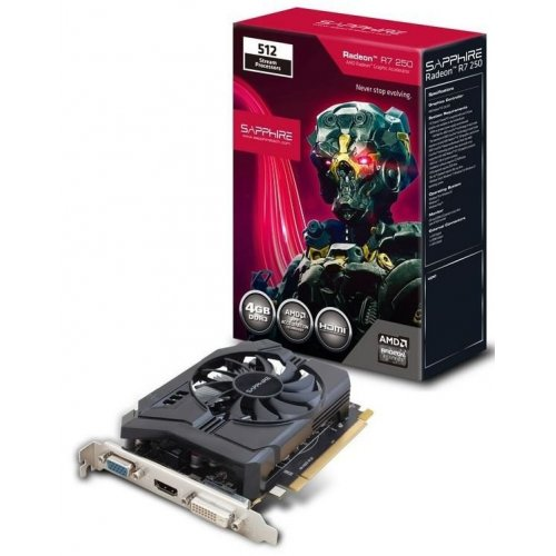 Фото Видеокарта Sapphire Radeon R7 250 D3 512SP Edition 4096MB (11215-23-20G)