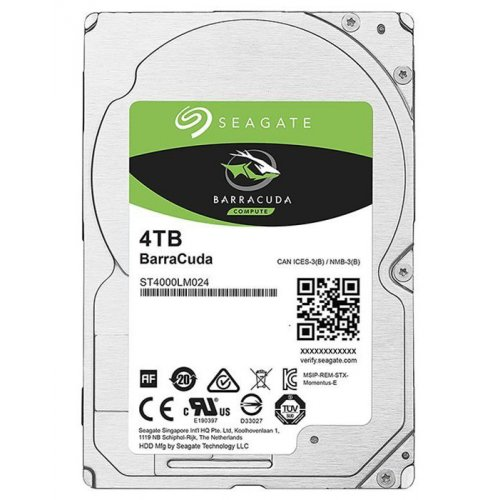 Фото Жесткий диск Seagate BarraCuda 4TB 128MB 5400RPM 2.5'' (ST4000LM024)