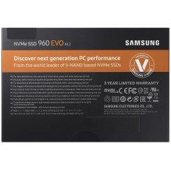 Фото SSD-диск Samsung 960 EVO V-NAND 1TB M.2 (2280 PCI-E) NVMe x4 (MZ-V6E1T0BW)
