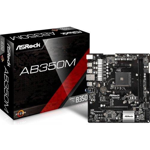 Фото Материнская плата AsRock AB350M (sAM4, AMD B350)