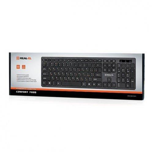 Фото Клавиатура REAL-EL Comfort 7080 USB Black