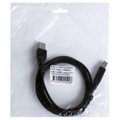 Фото Удлинитель Smartfortec USB 2.0 AM-BM 1.8m Premium (SCP-USB2-AMBM-6) Black