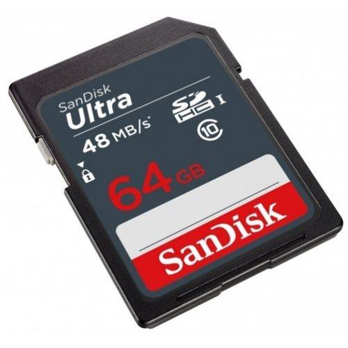 Фото Карта памяти SanDisk SDXC Ultra 64GB Class 10 UHS-I (SDSDUNB-064G-GN3IN)