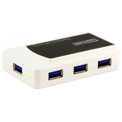 Фото USB-хаб STLab USB 3.0 7-ports с БП (U-870) Black/White