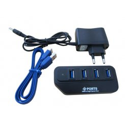 Фото USB-хаб Lapara USB 3.0 4-ports с БП (LA-USB304A) Black