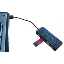 Фото USB-хаб Lapara USB 2.0 4-ports (LA-SLED4) Black