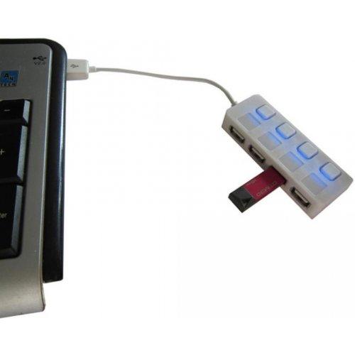 Фото USB-хаб Lapara USB 2.0 4-ports (LA-SLED4) White