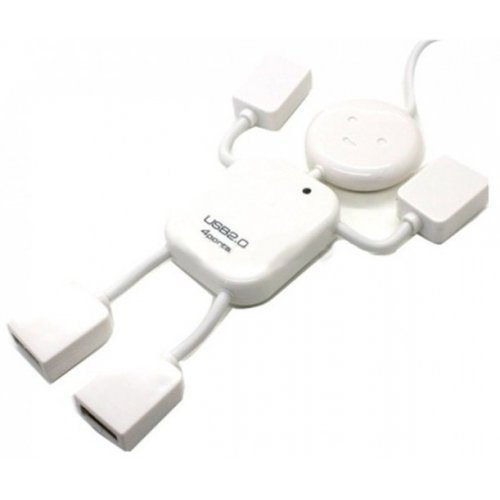 Фото USB-хаб Lapara USB 2.0 4-ports (LA-UH4372) White