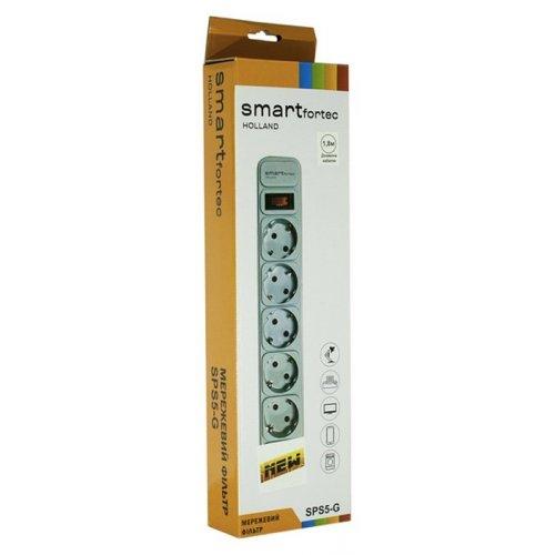 Фото Сетевой фильтр Smartfortec 1,8м 5 розеток (SPS5-G-6G) Gray