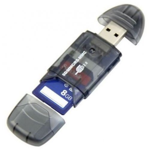Фото Кардридер STLab USB 2.0 SD/MMC/RS-MMC OTG (U-371) Black