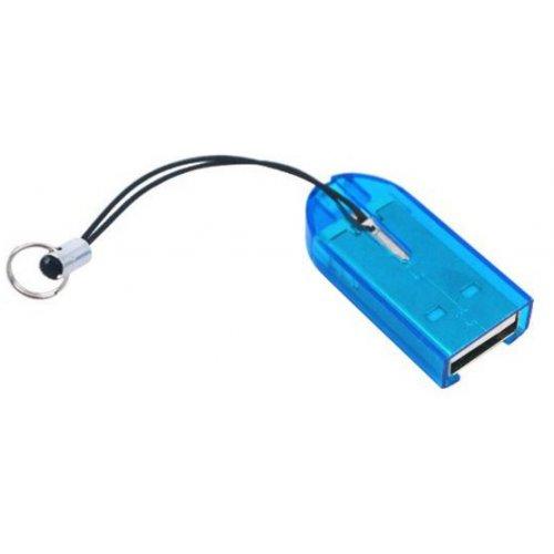 Фото Кардридер STLab USB 2.0 microSD/TF (U-373) Blue