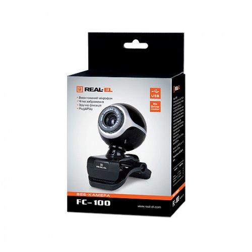 Фото Веб-камера REAL-EL FC-100 Black