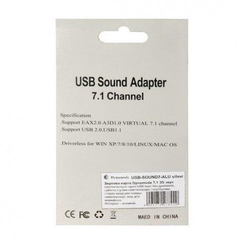 Фото Звуковая карта Dynamode SOUND USB 8 Silver