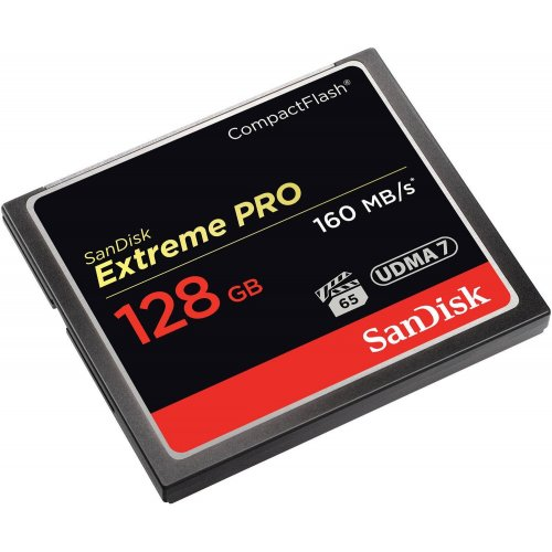 Фото Карта памяти SanDisk Compact Flash Extreme Pro 128GB R160/W150MB/s (SDCFXPS-128G-X46)