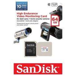 Фото Карта памяти SanDisk microSDXC High Endurance Video Monitoring 64GB Class 10 W20MB/s (с адаптером) (SDSDQQ-064G-G46A)
