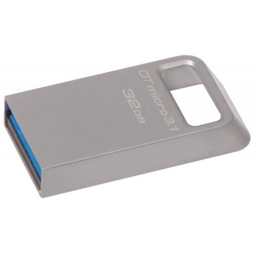 Фото Накопитель Kingston DataTravel Micro 32GB USB 3.1 Metal Silver (DTMC3/32GB)