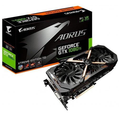 Фото Видеокарта Gigabyte GeForce GTX 1080 TI AORUS Xtreme Edition 11264MB (GV-N108TAORUS X-11GD)