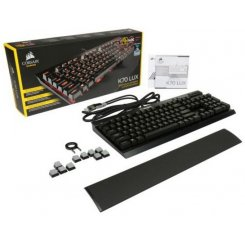 Фото Клавиатура Corsair K70 LUX Mechanical Gaming Cherry MX Blue (CH-9101021-NA)