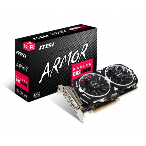 Фото MSI Radeon RX 570 ARMOR OC 8192MB (RX 570 ARMOR 8G OC)