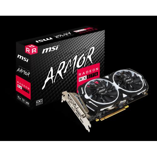 Фото Видеокарта MSI Radeon RX 570 ARMOR OC 4096MB (RX 570 ARMOR 4G OC)