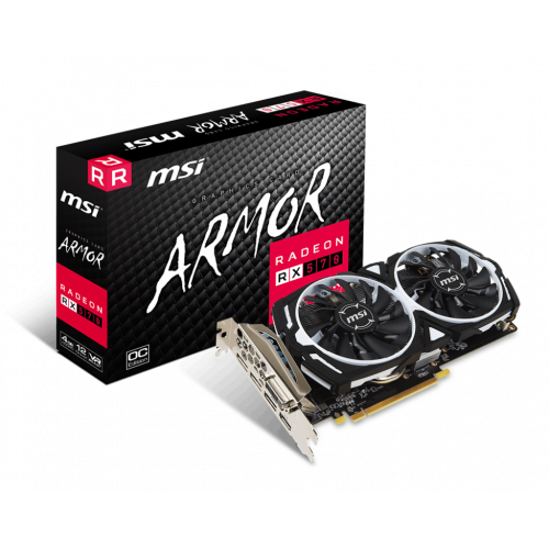 Фото MSI Radeon RX 570 ARMOR OC 4096MB (RX 570 ARMOR 4G OC)