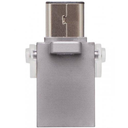 Фото Накопитель Kingston DataTravel MicroDuo 3C 128GB USB 3.1 Silver (DTDUO3C/128GB)
