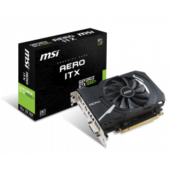 Фото Видеокарта MSI Geforce GTX 1050 Ti AERO ITX OC 4096MB (GTX 1050 TI AERO ITX 4G OC)