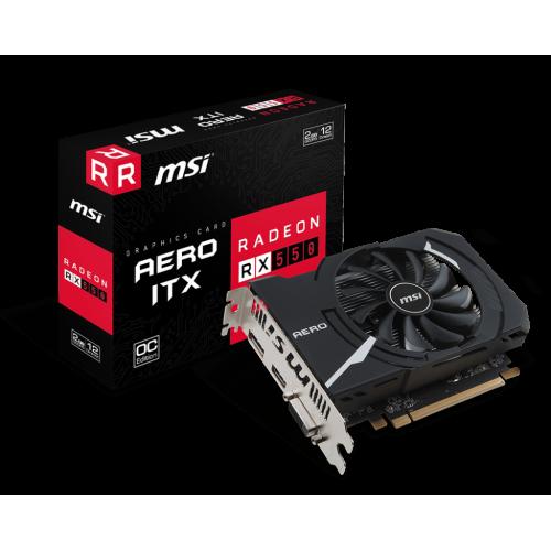 Фото MSI Radeon RX 550 AERO ITX OC 2048MB (RX 550 AERO ITX 2G OC)
