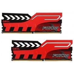 Фото ОЗУ Geil DDR4 16GB (2x8GB) 2400Mhz FORZA Red (GFR416GB2400C16DC)