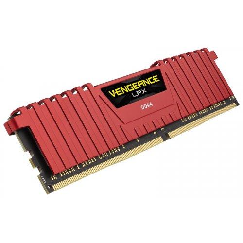 Фото ОЗУ Corsair DDR4 16GB (2x8GB) 2133Mhz Vengeance LPX (CMK16GX4M2A2133C13R) Red